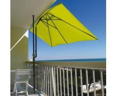 Parasol rectangulaire pour terrasse et grand balcon 3 m x 1.50 m LEO Anis