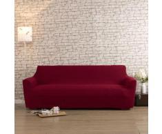 Housse de canapé 2 places bi-extensible LISA Rouge
