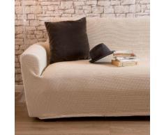 Housse de canapé 2 places bi-extensible LISA Ecru