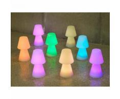 Lampe à poser extérieure LED multicolore sans fil en polyéthylène Lola 30cm
