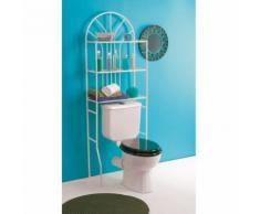 Etagère WC métal dessus toilettes