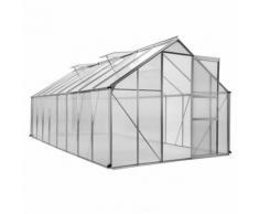Serre de jardin aluminium 12,25m² - Translucide