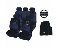 Housse de siège auto sport Racing Bleu et Noir 16 pièces