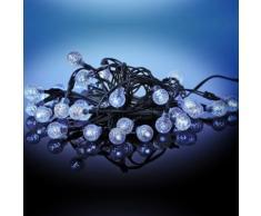 Guirlande solaire 35 LED boules givrées VIRAGE