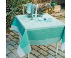 Lot de 4 serviettes de table Souffle GARNIER THIEBAUT, Turquoise, 55 x 55 cm