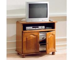 Meuble TV Cluzel 2 portes, plateau pivotant,