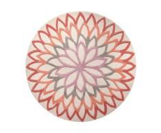 Tapis rond orange Lotus Flower ESPRIT HOME, Diamètre 200 cm