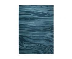 Tapis bleu moderne Deep Water Esprit Home, 90 x 160 cm
