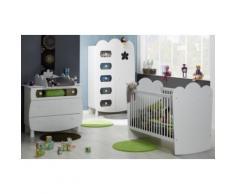 Chambre bébé complète Silène à barreaux,