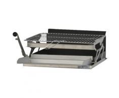 Grilloir mFog avec bac horizontal, grille et lèche frites,