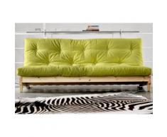 Banquette lit futon vert anis FRESH 3 places convertible couchage 140*200cm