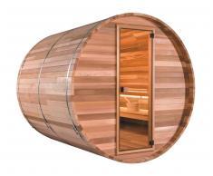 items-france BARREL VAP 6PL+ - Sauna d'extrieur traditionnel barrel vap 6 place...
