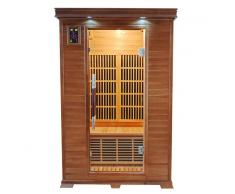 items-france LUXE 2 PL - Sauna infrarouge luxe 2 places 120x105x190cm