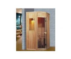 items-france KARIS - Sauna traditionnel 125x110x80x70x200 pour 2-3 personnes