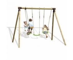 Portique bois Trigano 2,50 m. 4 enfants