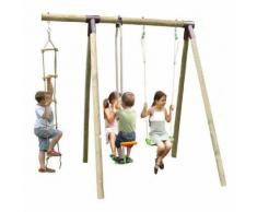 Portique en bois Trigano 2,50 m. 4 enfants
