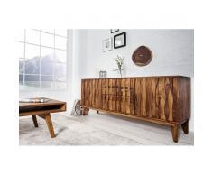 Leylina Enfilade moderne à 2 tiroirs et 2 portes en bois massif