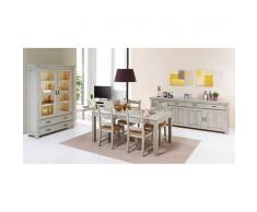Leylina Argentier 2 p. avec salle à manger complète coloris chêne blanchi