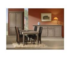 Leylina Bar avec salle à manger complète coloris pin memphis marron