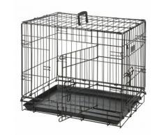 Cage pour chien Noir 2 portes L 93 cm x l 57 cm x H 62 cm