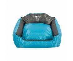 Panier coussin d'extérieur bleu et gris pour chien Natuna M-Pets Taille M