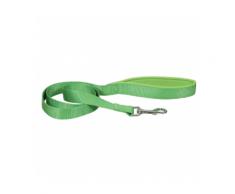 Laisse sangle verte en nylon pour chien avec poignée confort Chapuis Sellerie Largeur 20 mm Longueur 1,20 m