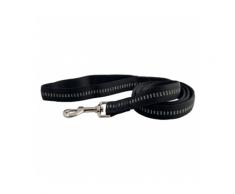 Laisse noire matelassée en nylon pour chien Chapuis Sellerie Largeur 20 mm Longueur 1,20 m