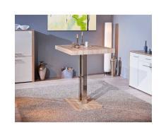 Leylina Table de bar coloris chêne naturel