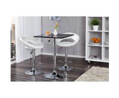 Leylina Table de bar carrée en bois mdf coloris noir