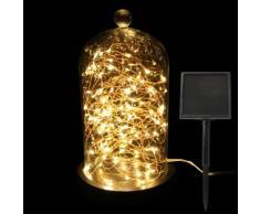 Guirlande lumineuse Solaire 9,80 m Blanc chaud 100 Micro LED CC