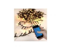 Guirlande lumineuse Bluetooth 11 m Blanc chaud 560 LED