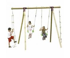 Portique bois 2,50 m. Trigano 4 enfants
